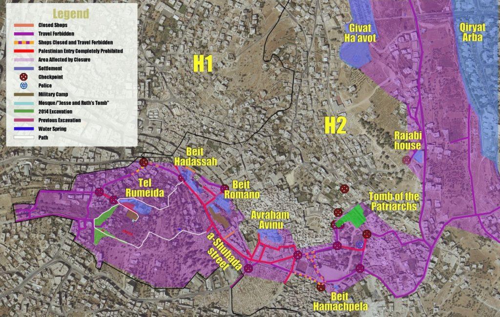 Hebron Map [English] (Medium)