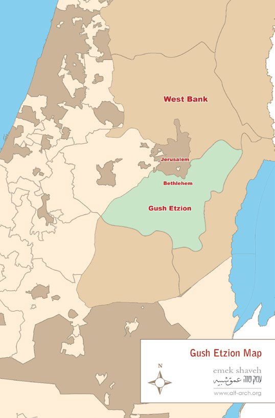 gush etzion general map