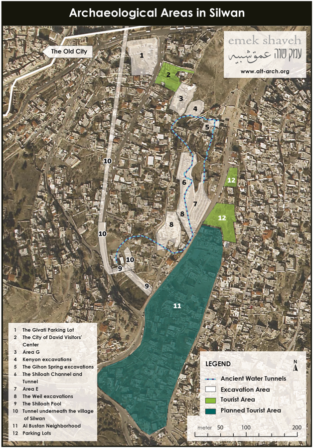 Archaeological areas silwan 2015 Eng