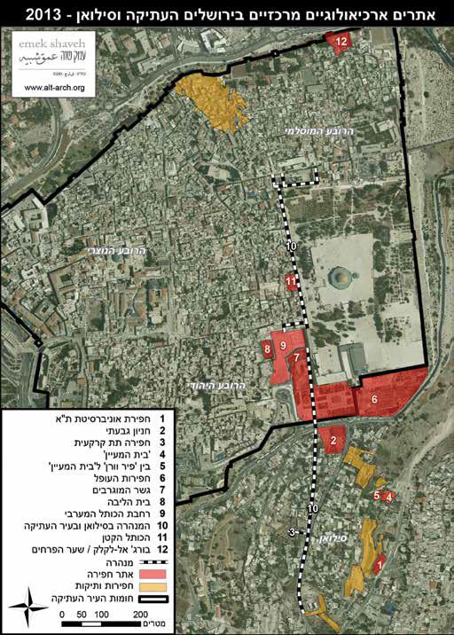 map excavations 2013